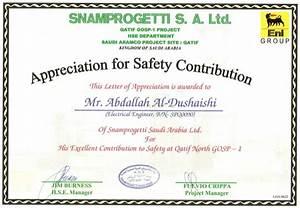 182 snam qatif gosp1 safety recognition certificate With safety recognition certificate template