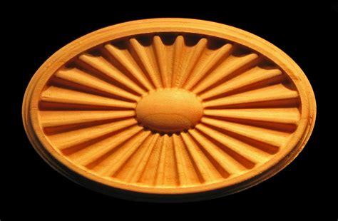 plaque federal sunburst fanlight carved wood