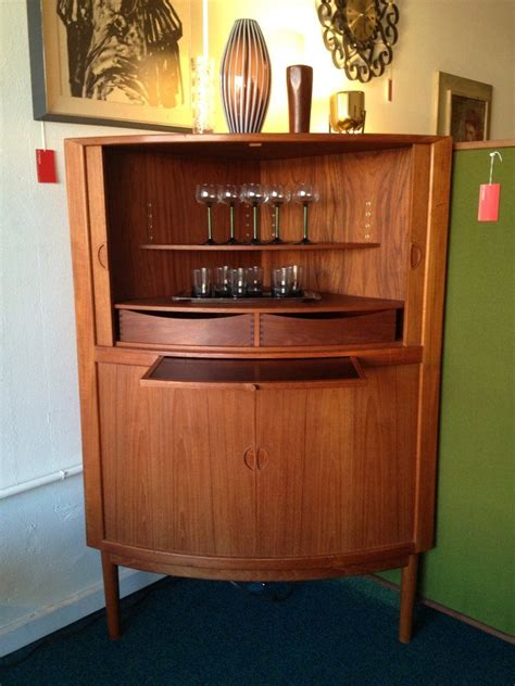 Corner Bar by Snapper Mid Century Corner Bar Cabinet With