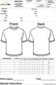 shirt order form template excel sample order templates