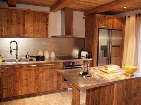 design cuisine chalet vieux bois chalet