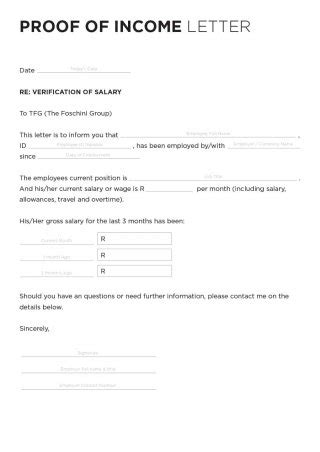 income verification letter 40 income verification letter sles proof of income 9607