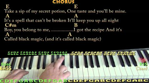 Black Magic (little Mix) Piano Cover Lesson In E With Chords/lyrics