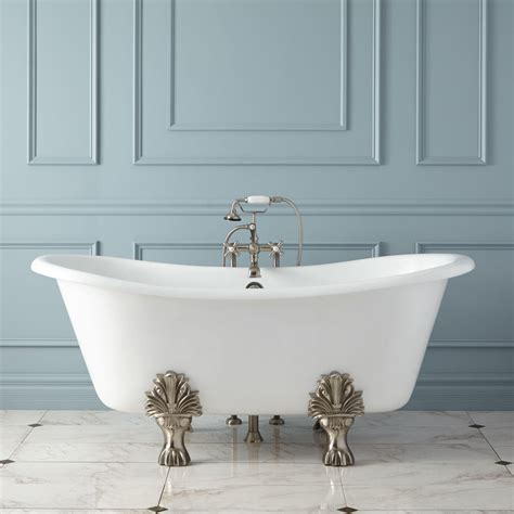 in tubs 66 quot cinda cast iron slipper tub bathroom
