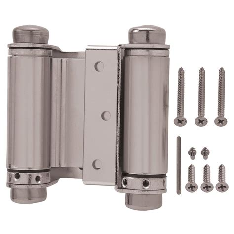 two way swinging door hinges everbilt 3 in x 3 in satin nickel 8619