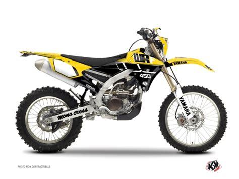 yamaha 450 wrf dirt bike vintage graphic kit yellow kutvek kit graphik