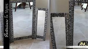 Miroir Pour Coiffeuse : miroir oriental de table triptyque pour coiffeuse style marocain int rieurs styles ~ Teatrodelosmanantiales.com Idées de Décoration