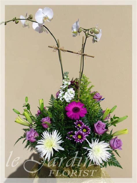orchids and fresh flowers le jardin florist palm
