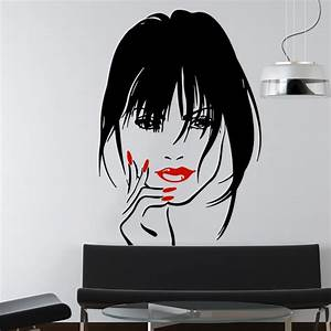 makeup wall decal vinyl sticker home decor eyes girl woman With stickers muraux design decoration