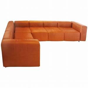Sofa In Cognac : vintage harvey probber sofa in cognac leather at 1stdibs ~ Indierocktalk.com Haus und Dekorationen