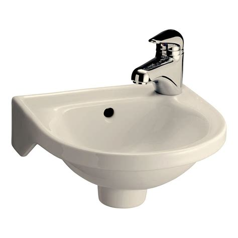 pegasus rosanna wall mounted bathroom sink  bisque