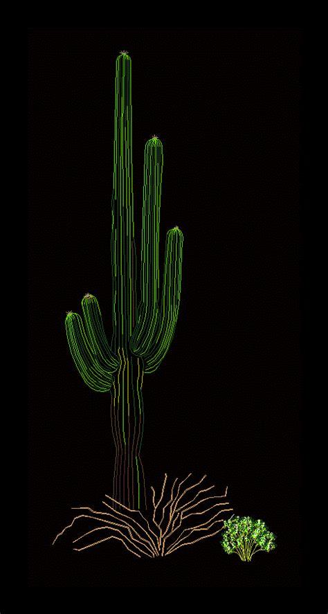 cactus saguaro  autocad cad   kb