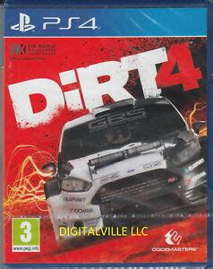 sony ps dirt dirt 4 ps4 sony playstation 4 brand new factory sealed racing game 816819014141 ebay