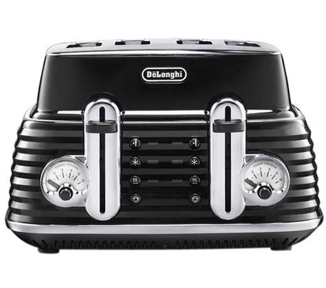 delonghi 4 slice toaster buy delonghi scultura ctz4003bk 4 slice toaster black