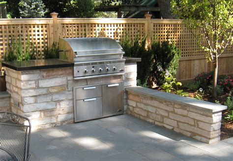 hardscape patio design ideas outdoors grill station