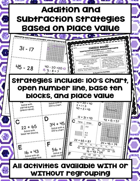 2digit Addition & Subtraction Place Value Strategiesgames, Assessments & More  Numbers, Game