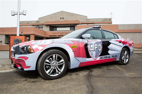 Polizei Stoppt Dodge Challenger by New Dodge Charger Cruiser For Anchorage