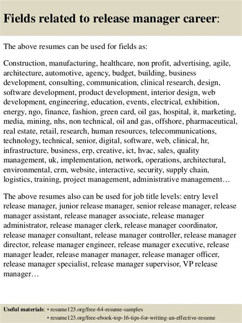 Build Release Manager Resume by Top 8 Release Manager Resume Sles
