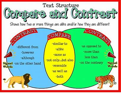 Text Contrast Compare Structure Words Structures Chart