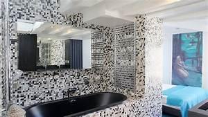 best mosaique salle de bain bleu turquoise gallery With carrelage mural bleu salle de bain
