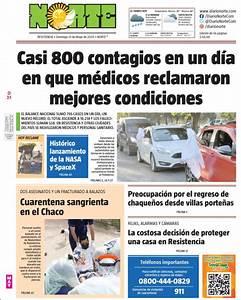 Peri U00f3dico Diario Norte  Argentina   Peri U00f3dicos De Argentina  Edici U00f3n De Domingo  31 De Mayo De