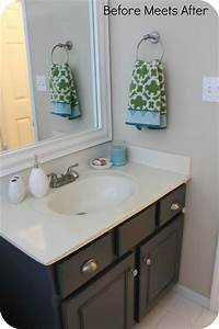 1 hour bathroom vanity makeover using annie sloan chalk With annie sloan chalk paint bathroom vanity
