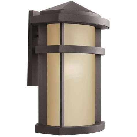 kichler modern outdoor wall light in bronze finish