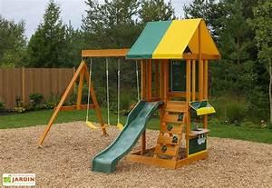 Jeux En Bois Extérieur : air de jeux exterieur en bois jeux exterieur bois ~ Premium-room.com Idées de Décoration