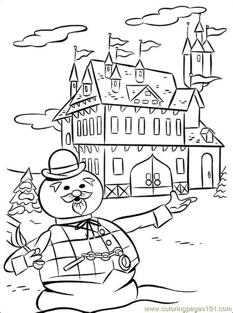 rudolph   coloring page  rudolph  red nosed reindeer coloring pages