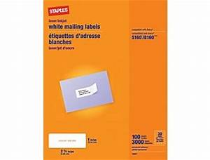 free blank address label sheets staples 5160 8160 7 With avery 5160 labels staples