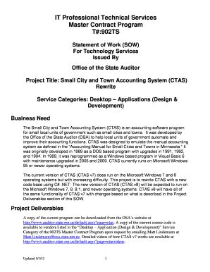 statement of work template for professional services statement of work template forms fillable printable sles for pdf word pdffiller