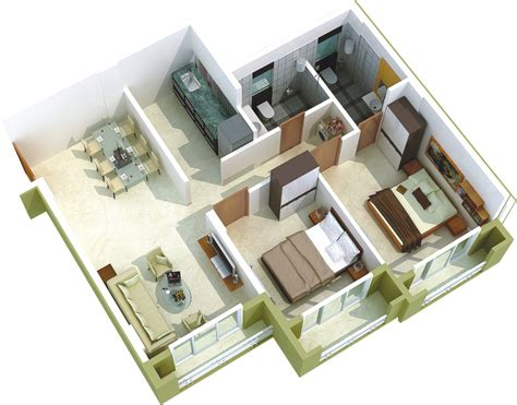 Inspirations 2 Bhk House Plan Layout With Ground Floor