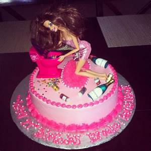 Drunk Barbie 21st Birthday Cake Bettierockercakes.blogspot ...