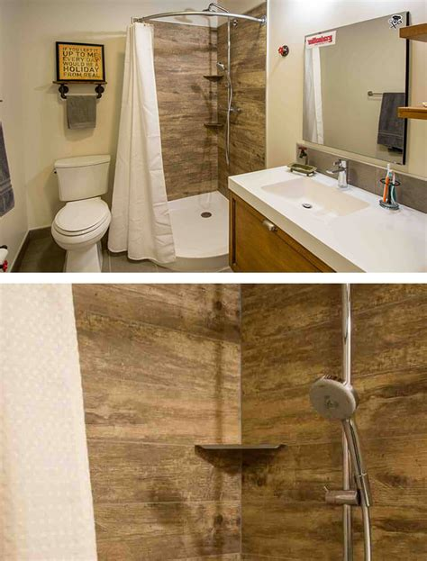 wood tile bathroom photo essay tile with style silent rivers design build