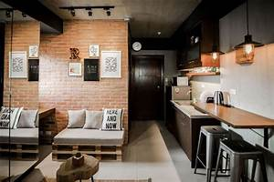 A, Modern, Industrial, Look, For, A, 22sqm, Studio, Unit