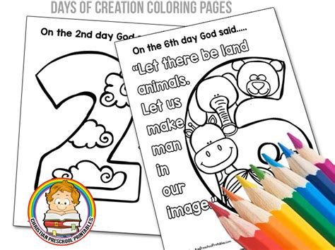 days of creation coloring pages christian preschool 826 | CreationColoringPageHeader