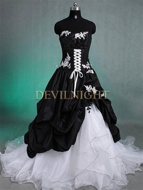 black and white romantic gothic wedding dress devilnight