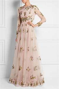valentino robe longue du soir en tulle a broderies et With robe red valentino