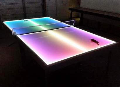 Table Pong Ping Tennis Tables Lighted Lights