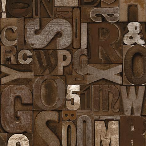 Mural Wallpaper Slate Letters Murivamuriva
