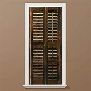homebasics plantation walnut real wood interior shutters With home depot window shutters interior