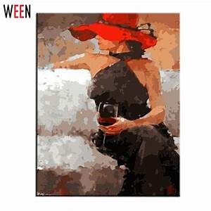 Tableau Peinture Sur Toile : mur peinture l 39 huile vin femelle by num ros tableau peinture peinture sur toile peinture sur ~ Teatrodelosmanantiales.com Idées de Décoration