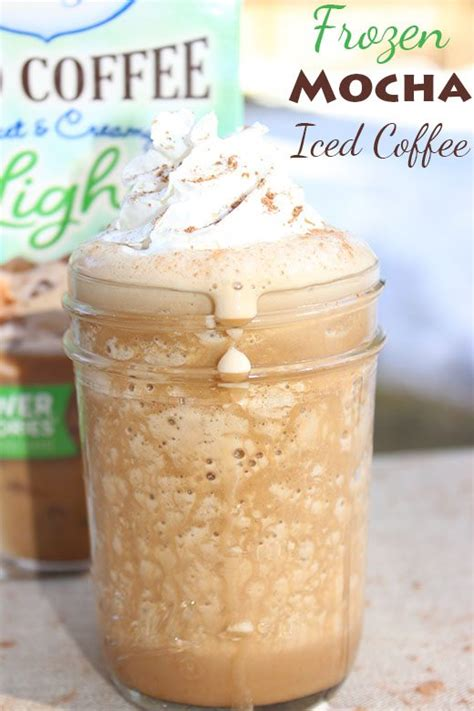 Add frozen coffee ice cubes, remaining ½ cup cold brew, milk, irish cream, vodka, and vanilla to a to help your blender process the mixture, add in liquid ingredients first and frozen coffee last. Light Mocha Tiramisu and Frozen Mocha Iced Coffee Recipes #LightIcedCoffee | Cutefetti