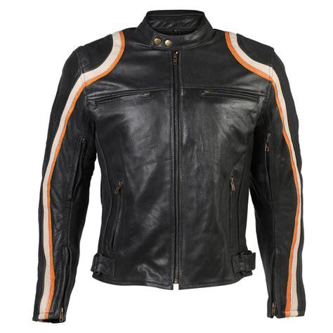 black motorbike jacket distressed black orange racing sports leather motorcycle