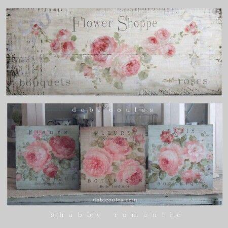 cuadro tris rose shabby cuadro rosas cartel decoupage reciclar muebles vintage en 2019 decoraci 243 n chic antiguo