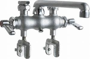 Manual Laundry Tray Sink Faucet With Mounting Clamps
