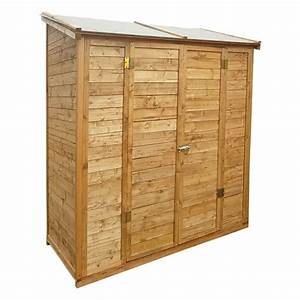 Remise En Bois Pour Jardin : remise adoss e de jardin en bois trait teint marron ~ Premium-room.com Idées de Décoration