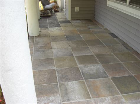 refinishing concrete refinishing slate entryway slate tile