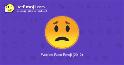 worried emoji meaning  pictures
