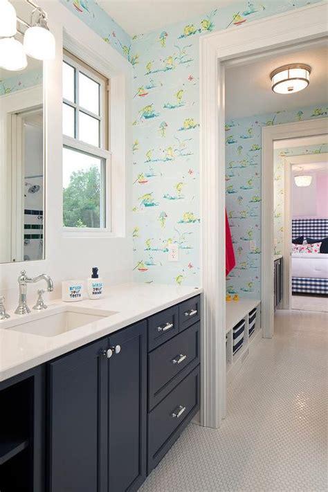 ralph lauren chesapeake wallpaper cottage bathroom